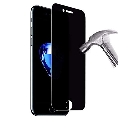 3 piezas Vidrio templado de privacidad anti espía, para iphone Xs max X Xr Max 8 7 6 6S Plus Película protectora de cubierta completa-Para iphone 6 / 6s