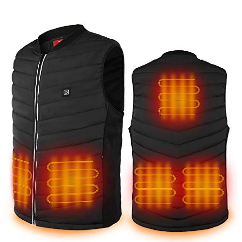 Hoson Lightweight Heated Vest for Men and Women,USB Charging Battery Included Heated Jacket, 2020 Upgraded Heating Vest Suitable forMotorcycle,Camping,Hunting