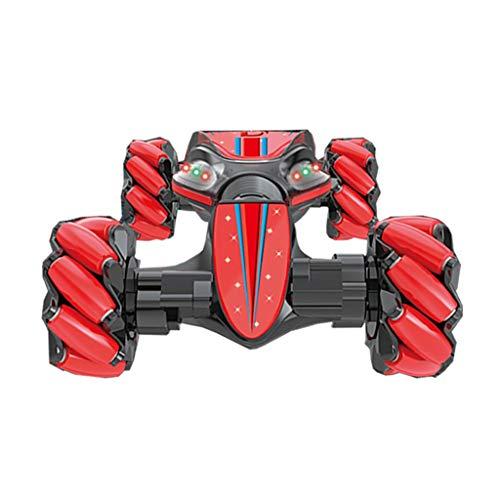 TIREOW Jungen 7,4 V 1200 mA Batterieleistung Weihnachten Kunststück Ferngesteuertes Auto Geste, die das Verdrehen von VehicleDrift Autofahren Spielzeug Geschenken Abfragt Spur (Rot)