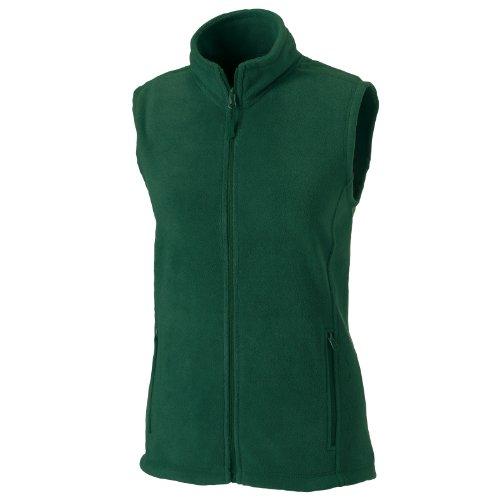 Russell Europe Damen Fleece-Weste / Fleece-Gilet, Anti-Pilling, durchgehender Reißverschluss (L) (Flaschengrün)