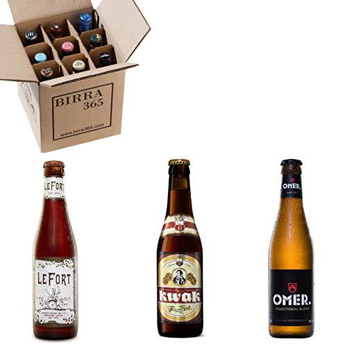 Caja degustación 9 cervezas belgas. Una selección de tres de las cervezas belgas más premiadas.