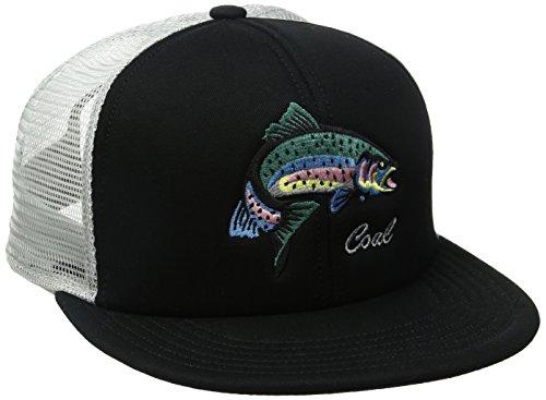 Coal Men's The Wilds Mesh Back Trucker Hat Adjustable Snapback Cap, Black, One Size