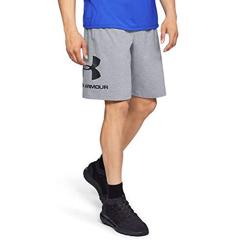 Under Armour Sportstyle Logo Tank, sportliches Muskelshirt aus superweichem Stoff, ärmelloses Sportshirt mit loser Passform Herren, Black / Black / Black, M