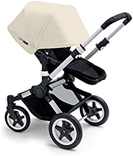 Bugaboo 2015 Buffalo Stroller Complete Set in Aluminum and Black (Off White)