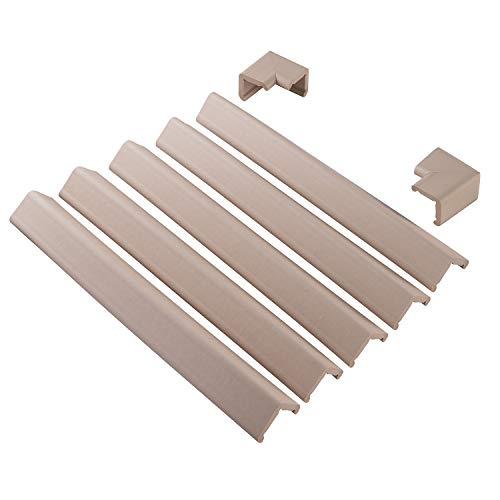 ClevaMama schokbescherming van schuimrubber, hoek- en randbescherming, bescherming tegen meubels, randbescherming, zachte hoekbescherming voor kinderen, voor tafel en open haard