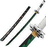 KK.YY Demon Slayer Blade COS Sword Shinazugawa Sanemi Prop Modelo de Arma, para Amantes del Anime, Juguetes de Accesorios de Cosplay, Espada de Arma Prop Anime Ninja Sword Toys
