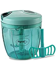 Pigeon Plastic Handy Chopper With 5 Blades And 1 Whisker, Green