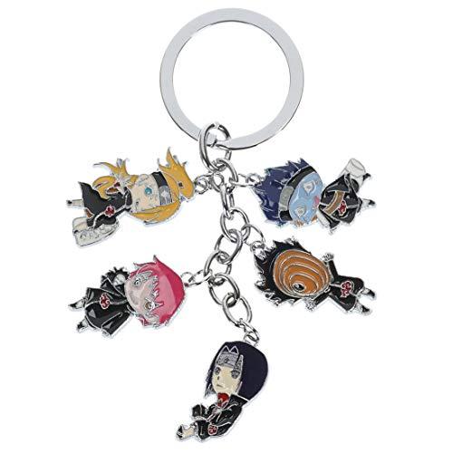 CoolChange Naruto Schlüsselanhänger mit 5 Chibi Figuren