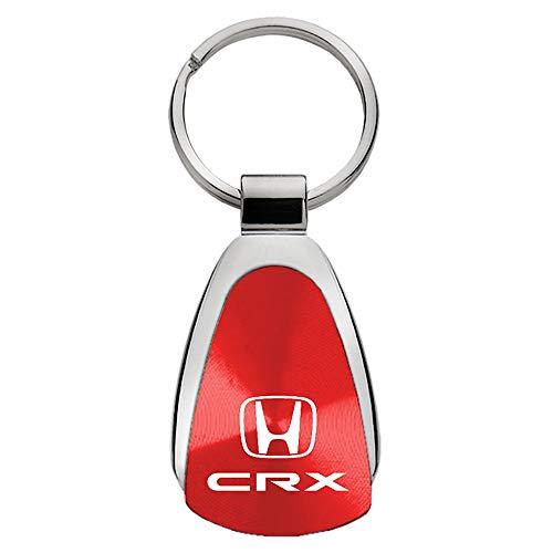 Au-Tomotive Gold, INC. Teardrop Key Fob for Honda CRX Red - DS-KCRED.CRX-1