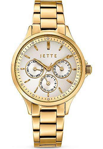 JETTE Time Damen-Uhren Analog Quarz One Size Gold Edelstahl 32013687