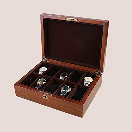 Preisvergleich Produktbild JYXJJKK Holz-uhrenbox, Schmuck aufbewahrungsbox-A