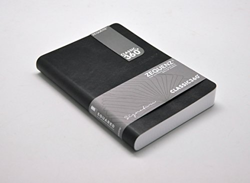 Zequenz Classic 360Soft Bound Journal/Schreiben Notebook schwarz Medium 12,7x 17,8cm 200Blatt/400Seiten liniert/Liniertes Papier