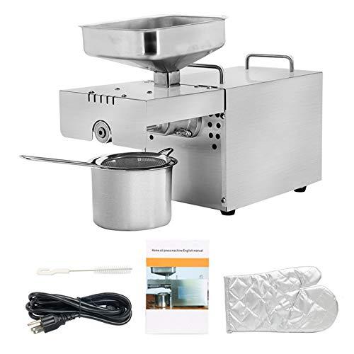 TTLIFE Machine de Presse à Huile, extracteur d'huile Automatique 500W Froid/Chaud, Machine d'expulseur d'huile de presseur d'huile de graines de Noix
