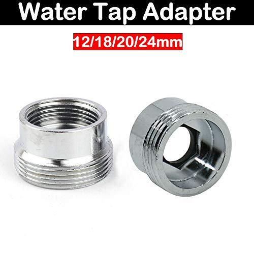Supertool Wasserhahn-Adapter, Luftreiniger, Verbindungsstück, Wassersparende Metall-Buchse, 16-22 mm Wasserhahn-Adapter (1 Stück)