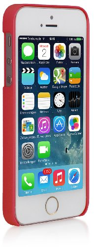 Custodia Colorant C1 - Esclusiva cover posteriore per iPhone 5 & iPhone 5s di Apple -rosso-
