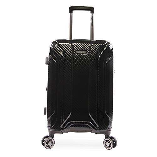Brookstone Luggage Keane Spinner Suitcase, Black, Carry-on (21-Inch)