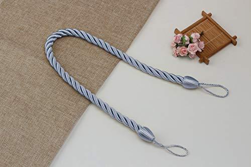 ALXY 2PCS手織りカーテンストラップ、カーテンストラップカーテンクリップロープ、家の装飾の部屋のアクセサリーを固定 (色 : 銀)