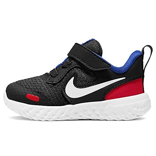 Nike Revolution 5 (TDV), Running Unisex-Bambini, Black White University Red Game Roy, 18.5 EU