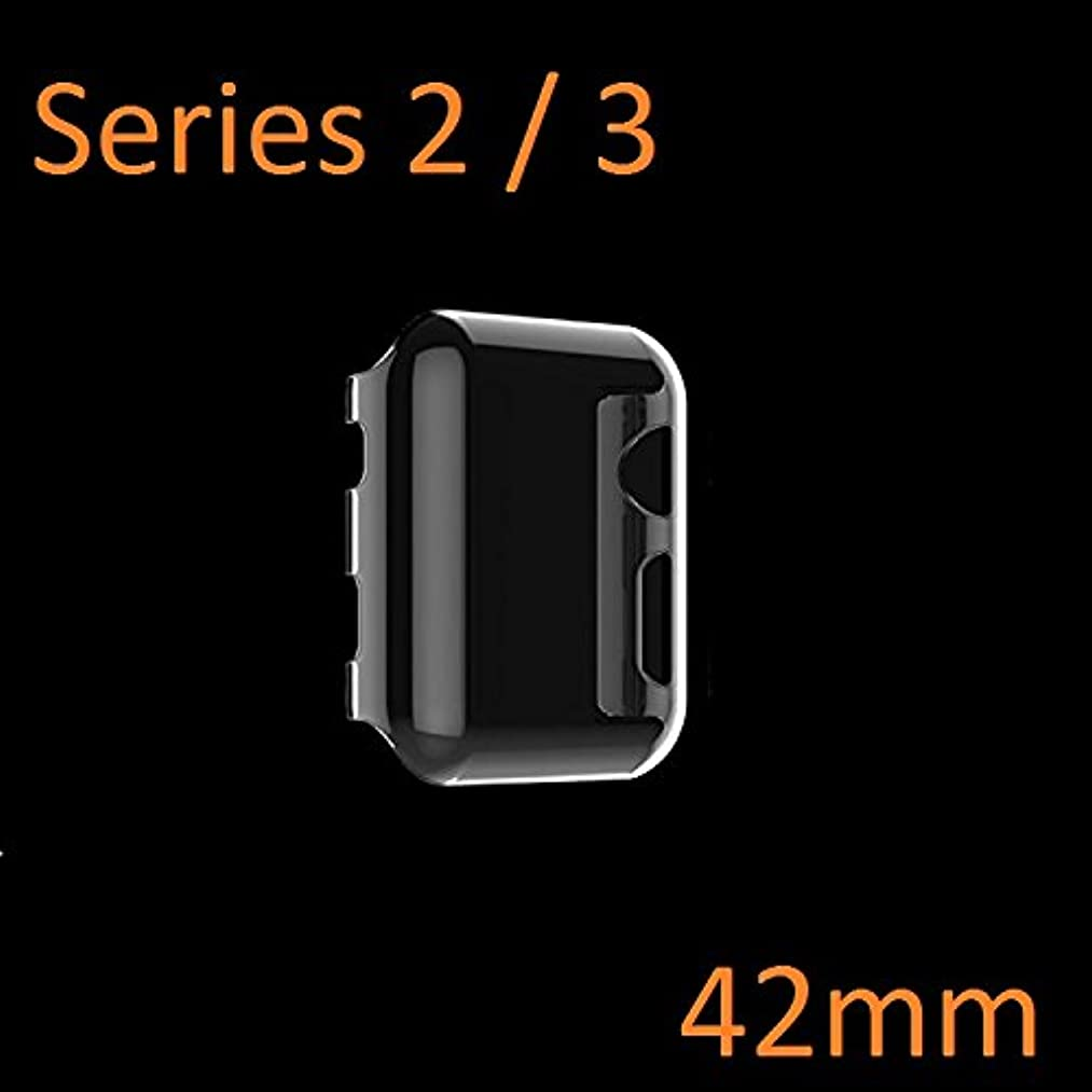 Apple Watch Case Series 2 and Series 3 [42mm], Ezone Ultra-Thin Clear Hard HD Bumper Apple Watch Screen Protector for Apple Watch (Series 2 / Series 3)