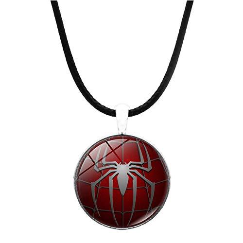 Bosi General Merchandise Spiderman, Superheld, Edelsteine der Zeit, Glasanhänger, Halskettenschmuck, kreative Geschenke