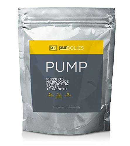 Purbolics Pump | Supports Nitric Oxide Production, Power & Strength | 1g of Agmapure, 3g of L-Citrulline, Stimulant-Free Nitric Oxide Stimulator & 30 Servings