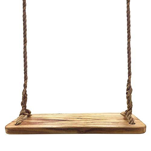 Aoneky Schaukel 60 x20 x3cm, Holz Brettschaukel, Tragfähigkeit: 160KG, Baumschaukel Kinderschaukel Schaukelsitz aus Natur Holz, für Erwachsene und Kinder(Paulownia Holz)
