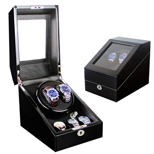 ZCYXQR Mecánico enrollador de Reloj automático Caja de bobinado de Reloj mecánico Completamente automático Mesa de Despertar Mesa giratoria Caja de Mesa giratoria
