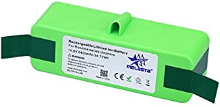 MELASTA 6400mAh 14.8V Lithium-ion Replacement Battery with Super Long Runtime for iRobot Roomba 500 600 700 800 Series 551 595 620 645 650 655 670 675 770 780 870 880 (1-Year Warranty)