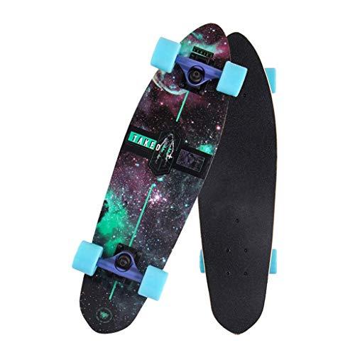26x7-Zoll-Deck-Tanz-Skateboard Skateboard-Shortboard Jugend Skateboard Complete Skateboard 7 Schichten Ahorn Adult Fähigkeiten Anfänger Skateboard, Jungen und Mädchen, die über 5 Jahre alt Geschenk Sk