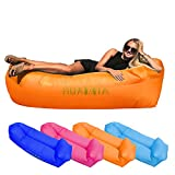 HUAXXIA Inflatable Lounger Air Sofa,Pillow-Shaped Headrest Waterproof Oxford Fabric Portable Inflatable Recliner/Chairs for Indoor & Outdoor Camping Party Picnic Beach Travel