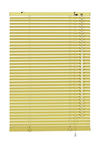 Gardinia 5340 - Persiana (Aluminio, 25 mm, 80 x 175 cm), Color Amarillo