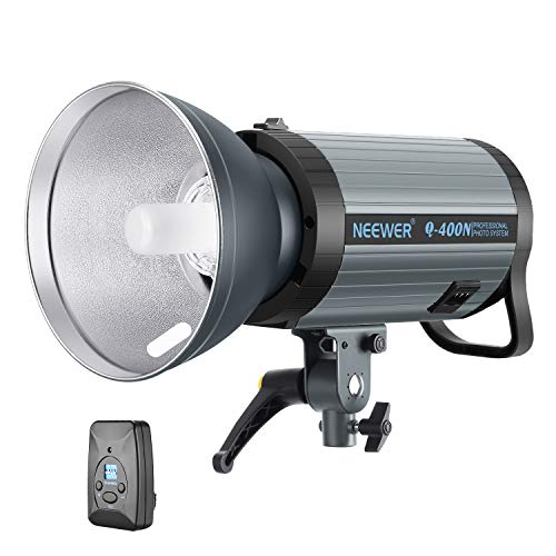 Neewer 400W GN65 Studio Flash Strobe Light Monolight with 2.4G Wireless Trigger and Modeling Lamp, Recycle in 0.01-0.5 Sec, Bowens Mount for Indoor Studio Portrait Photography(Q400N)