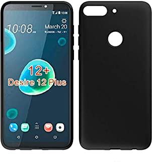 HTC Desire 12 Plus TPU Silicone Soft Thin Back Case For Htc Desire 12 Plus Cover Black By Muzz