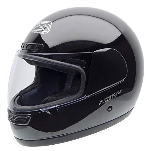 NZI Activy Casco de Moto, Negro, 58-59 (L)