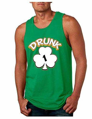 ALLNTRENDS Men's Tank Top Drunk 1-6 St Patrick's Day Shamrock Drunk (M, Drunk 1)