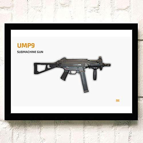 PUBG 3D Online FPS Gioco competitivo tattico Personaggio Arma Poster Decorazioni per la casa Scuola Materna Camera dei Bambini Arte della Parete della Tela di Canapa Pittura 60 * 80 cm