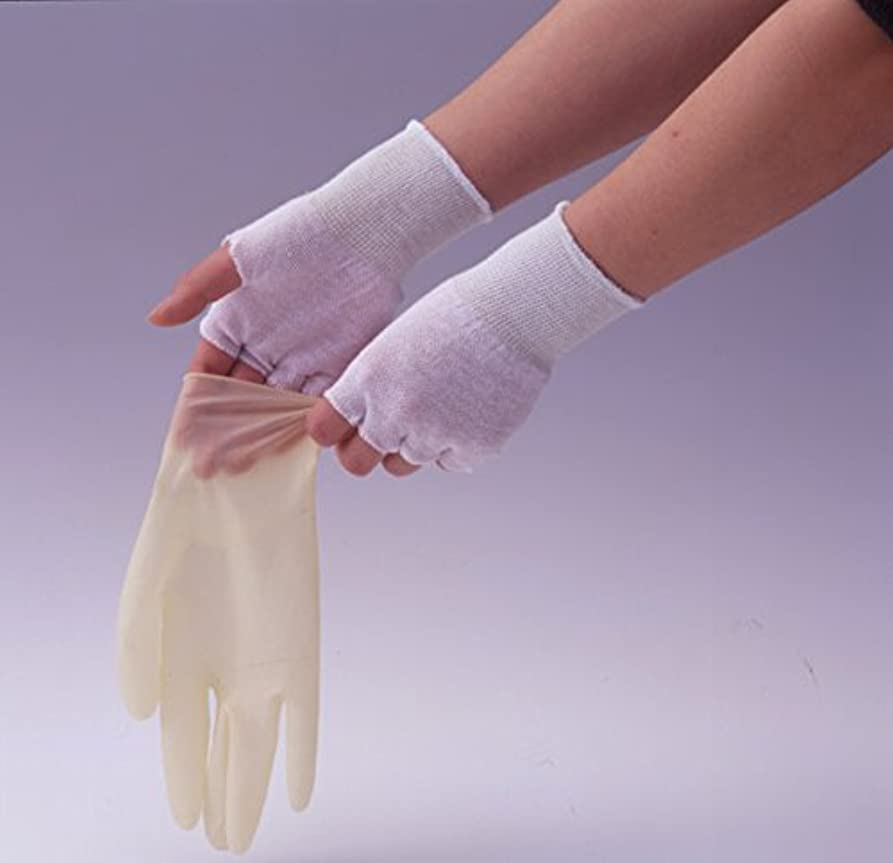 圧縮食用独創的やさしインナー手袋 (綿100%指なし) 200組/カートン 激安業務用パック
