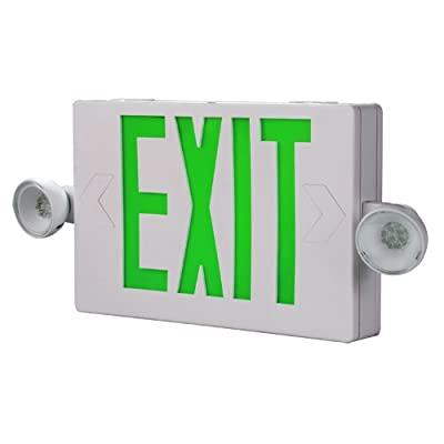 All-Pro Emergency Combo Unit LED-Exit Sign with Dual Lights