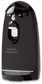 Black & Decker CO1200B Grand Openings II Extra-Tall Electric Can Opener, Black