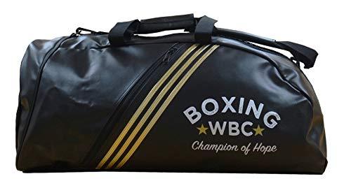adidas Borsa Zaino Training 2 in 1 Combat WBC in PU M Nero - Oro