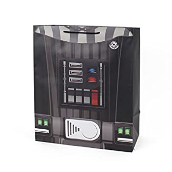 Hallmark 13  Large Light and Sound Gift Bag  Star Wars Darth Vader  for Christmas Halloween Birthdays Fathers Day Movie Parties and Sci-Fi Fans