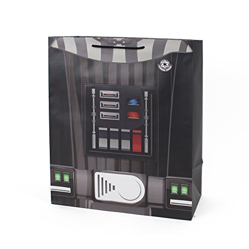 """Price comparison product image Hallmark 13"""" Large Light and Sound Gift Bag (Star Wars Darth Vader) for Christmas,  Halloween,  Birthdays,  Fathers Day,  Movie Parties and Sci-Fi Fans"""