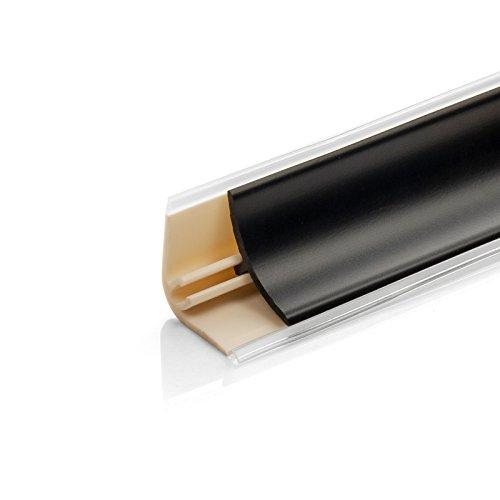 DQ-PP 3m WINKELLEISTE | Schwarz matt | 13 x 13mm | PVC | Küchenleiste Arbeitsplatte Abschlussleiste Leiste Küche Küchenabschlussleiste Wandabschlussleiste Tischplattenleisten