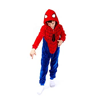Spiderman Costume 4T Kids Animal Onesie Pajamas Halloween Boy Girl