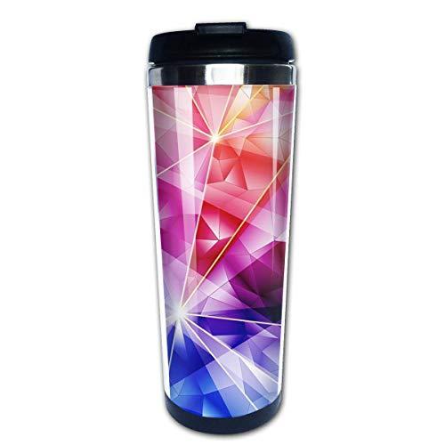 Taza de café de viaje Diamantes Patrón de luz Taza de café con aislamiento de acero inoxidable Botella de agua deportiva 13.5 Oz (400 ml) MUG-2811