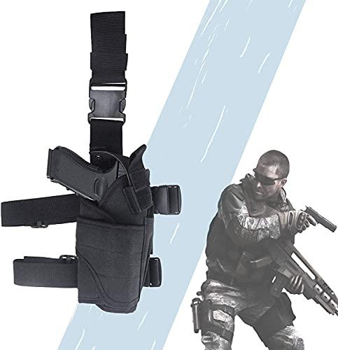 XIAOER Bolsa táctica, correas para las piernas con diseño ergonómico, barra mágica ajustable, antiarañazos, forro, funda invisible para airsoft para fotografía al aire libre, viajes de camping
