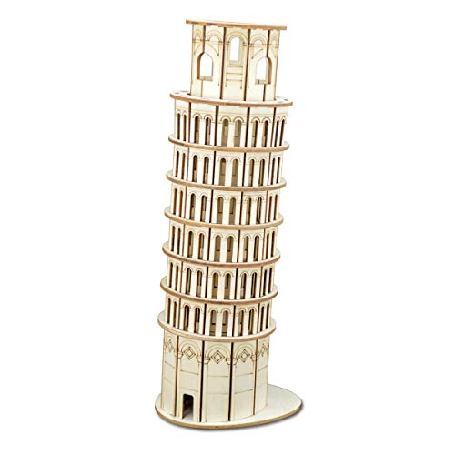 AHWZ 3D Puzzle DIY Wooden Jigsaw Puzzle Toy Leaning Tower of Pisa