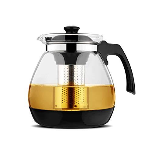 Teekanne Hitzebeständige Glasfilter Große Kapazität Teetasse Pu\'er Edelstahl LCSHAN (Color : Single Pot 1600ml)