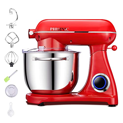 PHISINIC Stand Mixer - 8.5 QT 800W Full Metal Case Professional Kitchen Electric Mixer,6 Speed DC Drive Mode Pure Copper Motor...