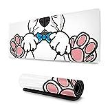 Alfombrilla de ratón para Cachorro Bulldog francés con el Mismo Gesto Alfombrillas de ratón para Mujer, Alfombrilla de ratón Ancha, Larga, de Gran tamaño, para Ordenador, 30x80cm